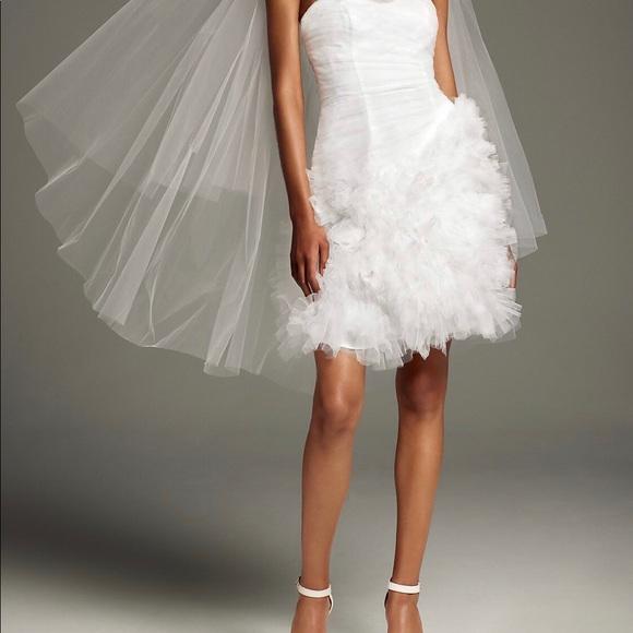 e8bb30b8c7e7 Vera Wang Dresses | White Short Bridal Party Dress | Poshmark